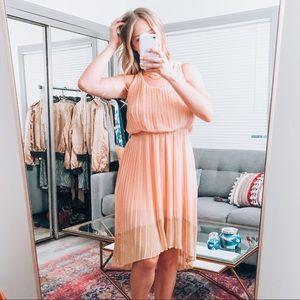 Jessica Simpson Apricot Blush Peach Hi Low Dress